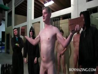 Naked gay fresher asshole toyed