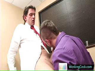 Sucking and fucking on be passed on job by workingcock