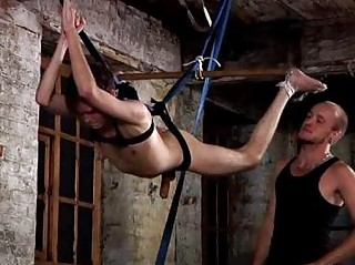 Twink Steven Prior Penis Played While Hanging