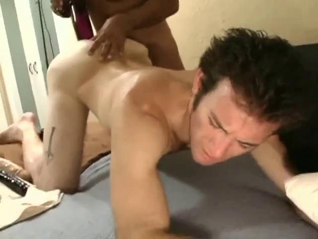 Sensual dark haired gay fella gets a huge dildo surrounding his tight ass hole