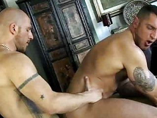 French gay dude got his dick blown by bald stud