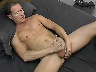 Handsome gay cub Simon August likes to start his day with a good...