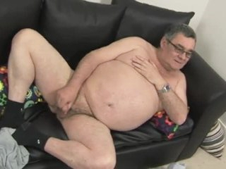 Fat Confessor Jerking His Meat