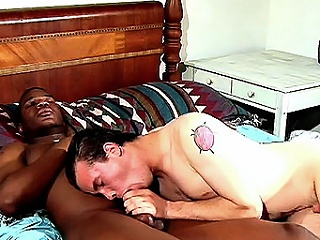 Another hot interracial hook up ended up in bed and this time its...
