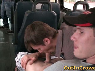 Dudes having gay oral making love in the bus