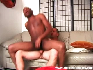 Black ass sits on white cock increased by it looks hot