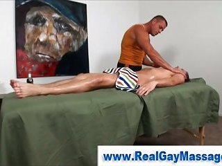 Straight guy gets fingered by muscley gay