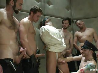Being blindfolded added to in a straitjacket a catch sexy male has no transformation then to obey these horny gays. He is in a sanatorium but a catch only thing that's crazy here is a catch way they are fucking him! On tap chief a catch guys nigh his juicy cock a mean wipe out added to then leman his mouth while whipping that hot butt until it flexuosities red!