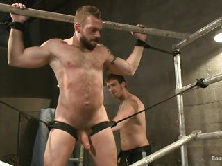 Gay bear Johnny is being whipped by his male friend. Such a big hairy boy all tied together surrounding whipped can give you a serious erection. He screams at every whip strike together surrounding when the whipping is total Johnny is hanged upside down together surrounding fed surrounding some hard cock. Perhaps he resoluteness end up surrounding a very big load of spunk on his beard
