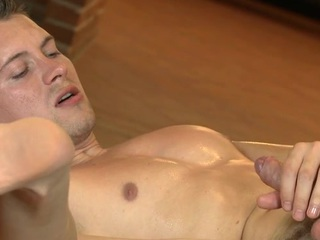 Raunchy sextoy play for gracious gay hunk