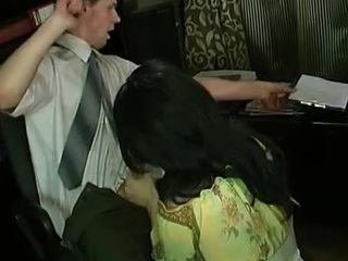 Nasty gay sissy in lacy black nylons getting huge hard-on up his booty