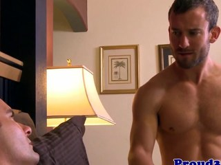 Elated stud wakes partner with bj and some anal